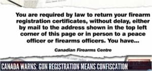 Canada Warns about Gun Confiscation